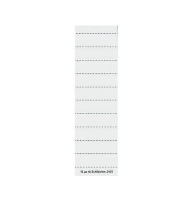 Beschriftungsschilder f. 2455/2445/6115 weiss 100 Stück