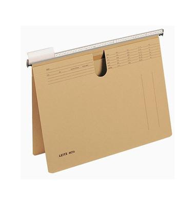 Hängehefter Beta 2512 A4 230g Karton natronbraun kaufmännische Heftung mit Tasche