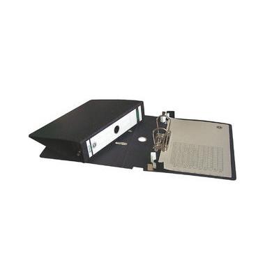 Hängeordner Alpha Duo A4 schwarz 80mm mit Schwenkbügeln Hartpappe Recycling mit Griffloch 29210000