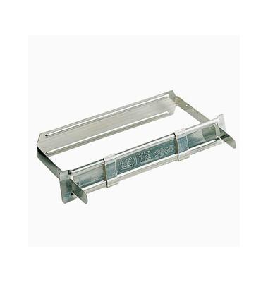 3068 Heftverschluss Fastener 9,1cm chrom 8cm-Lochung Metall