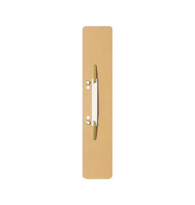 Heftstreifen lang 3700-00-11, 60x305mm, extra lang, geöst, RC-Karton mit Kunststoffdeckleiste, chamois, 25 Stück