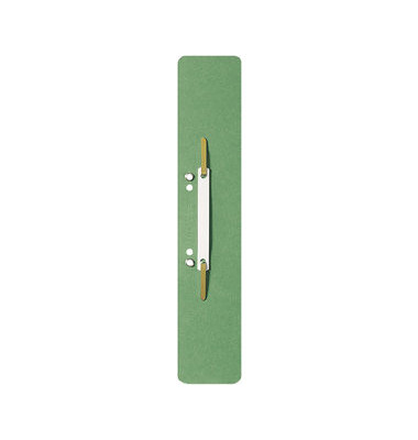 Heftstreifen lang 3700-00-55, 60x305mm, extra lang, geöst, RC-Karton mit Kunststoffdeckleiste, grün, 25 Stück