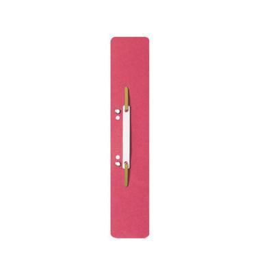 Heftstreifen lang 3700-00-25, 60x305mm, extra lang, geöst, RC-Karton mit Kunststoffdeckleiste, rot, 25 Stück