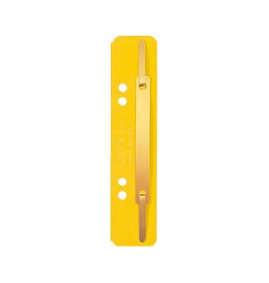 Heftstreifen kurz 3701-00-15, 35x158mm, RC-Karton mit Metalldeckleiste, gelb, 25 Stück