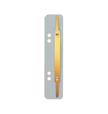 Heftstreifen kurz 3701-00-85, 35x158mm, RC-Karton mit Metalldeckleiste, grau, 25 Stück