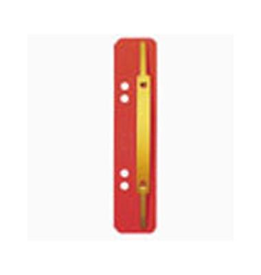 Heftstreifen kurz 3701-00-25, 35x158mm, RC-Karton mit Metalldeckleiste, rot, 25 Stück