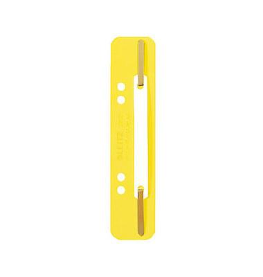 Heftstreifen kurz 3710-00-15, 35x158mm, Kunststoff mit Kunststoffdeckleiste, gelb, 25 Stück