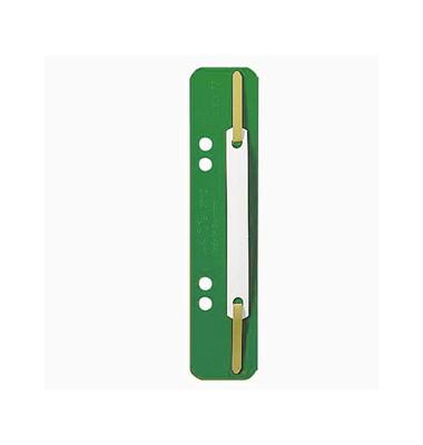 Heftstreifen kurz 3710-00-55, 35x158mm, Kunststoff mit Kunststoffdeckleiste, grün, 25 Stück