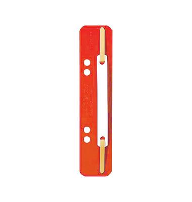 Heftstreifen kurz 3710-00-25, 35x158mm, Kunststoff mit Kunststoffdeckleiste, rot, 25 Stück