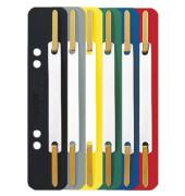 Heftstreifen kurz 3710-00-99, 35x158mm, Kunststoff mit Kunststoffdeckleiste, farbig sortiert, 25 Stück