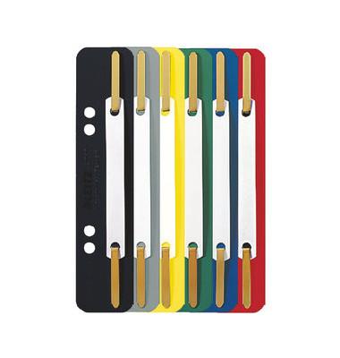 Heftstreifen kurz 3710-00-99, 35x158mm, Kunststoff mit Kunststoffdeckleiste, farbig sortiert