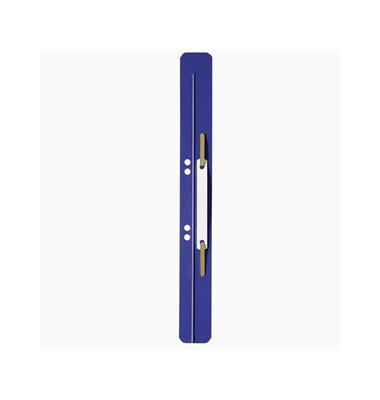 Heftstreifen lang 3711-00-35, 35x310mm, extra lang, Kunststoff mit Kunststoffdeckleiste, blau, 25 Stück