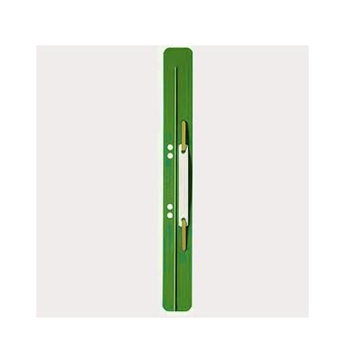 Heftstreifen lang 3711-00-55, 35x310mm, extra lang, Kunststoff mit Kunststoffdeckleiste, grün, 25 Stück