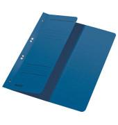 Ösenhefter A4 250g Karton blau halber Vorderdeckel kaufmännische Heftung