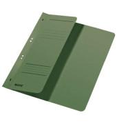 Ösenhefter A4 250g Karton grün halber Vorderdeckel kaufmännische Heftung