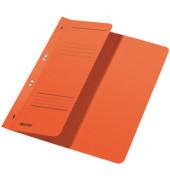 Ösenhefter A4 250g Karton orange halber Vorderdeckel kaufmännische Heftung