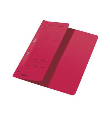 Ösenhefter A4 250g Karton rot halber Vorderdeckel Amtsheftung
