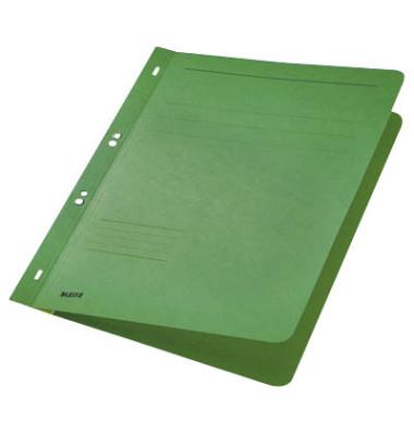 Ösenhefter A4 250g Karton grün ganzer Vorderdeckel kaufmännische Heftung / Amtsheftung