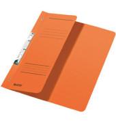 Schlitzhefter Karton halber VD orange A4 250g kfm.Hef.