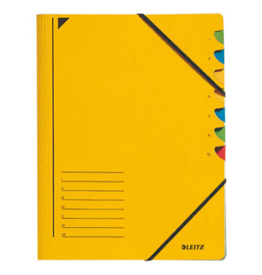 Ordnungsmappe m.Greifausschn. gelb A4 7-tlg. Color