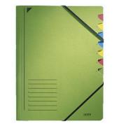 Ordnungsmappe m.Greifausschn. grün A4 7-tlg. Color