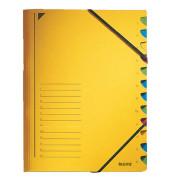 Ordnungsmappe m.Greifausschn. gelb A4 12-tlg. Color