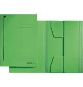Einschlagmappe 3 Klappen Folio grün 300g RC-Karton Juris