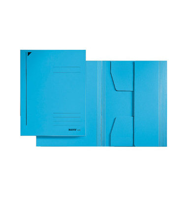 Einschlagmappe 3 Klappen A3 blau 300gRC-Kart. Juris