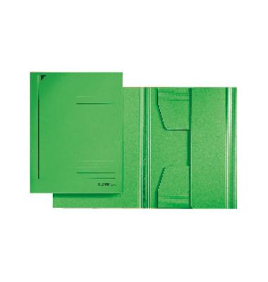 Einschlagmappe 3 Klappen A3 grün 300gRC-Kart. Juris