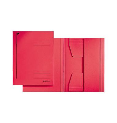 Einschlagmappe 3 Klappen A3 rot 300gRC-Kart. Juris