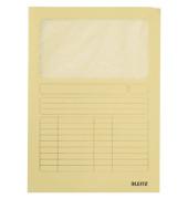 Sichtmappe 3950 A4 160g Karton gelb für lose Blätter mit Sichtfenster