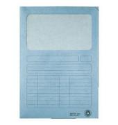 Sichtmappe 3950 A4 160g Karton hellblau für lose Blätter mit Sichtfenster