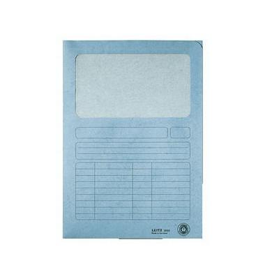 Sichtmappe A4 hellblau 140g mit Sichtfenster 100 Stück