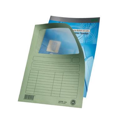 Sichtmappe 3950 A4 160g Karton hellgrün für lose Blätter mit Sichtfenster