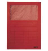 Sichtmappe 3950 A4 160g Karton rot für lose Blätter mit Sichtfenster