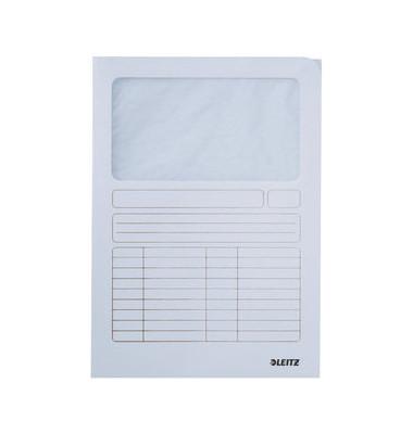 Sichtmappe 3950 A4 160g Karton weiß für lose Blätter mit Sichtfenster
