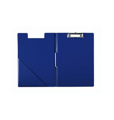 Klemmbrettmappe m. Einstecktasche blau A4