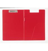 Schreibmappe m. Einstecktasche rot A4