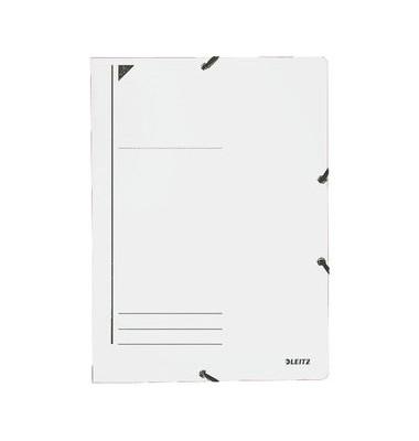 Eckspannmappe 3980 A4 400g weiß