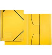 Eckspanner A4 gelb 300g Recyclingkarton 3 Klappen 23,2x31,8cm