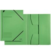 Eckspanner A4 grün 300g Recyclingkarton 3 Klappen 23,2x31,8cm