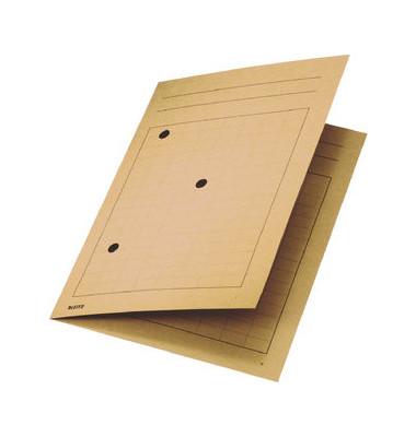 Umlaufmappe A4 mit Gitterdruck chamois 320g Recyclingkarton