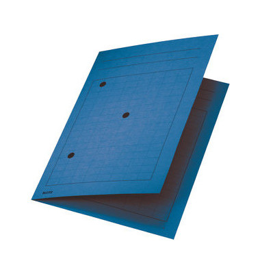 Umlaufmappe A4 mit Gitterdruck blau 320g Recyclingkarton