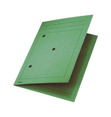 Umlaufmappe 3998 A4 320g Karton grün mit 3 Sichtlöchern