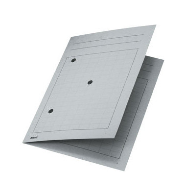 Umlaufmappe 3998 A4 320g Karton grau mit 3 Sichtlöchern