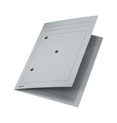 Umlaufmappe A4 mit Gitterdruck grau 320g Recyclingkarton