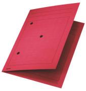 Umlaufmappe 3998 A4 320g Karton rot mit 3 Sichtlöchern