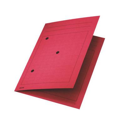 Umlaufmappe A4 mit Gitterdruck rot 320g Recyclingkarton