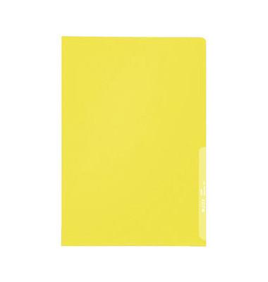Sichthüllen 4000-00-15, A4, gelb, transparent, genarbt, 0,13mm, oben & rechts offen, PP