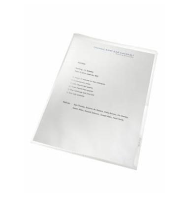 Sichthüllen Re:cycle 4001-00-03, A4, farblos, transparent, genarbt, 0,13mm, oben & rechts offen, PP